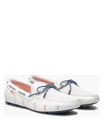Stride white boat shoes