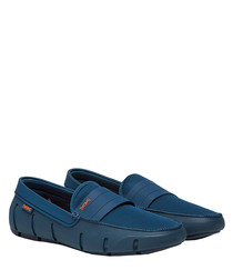 Stride marine blue loafers