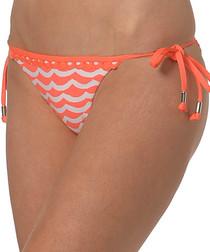 Tidal orange Brazilian bikini briefs