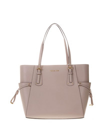 voyager old rose leather tote