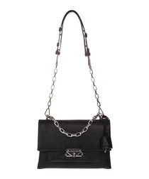 Cece Medium black leather shoulder bag