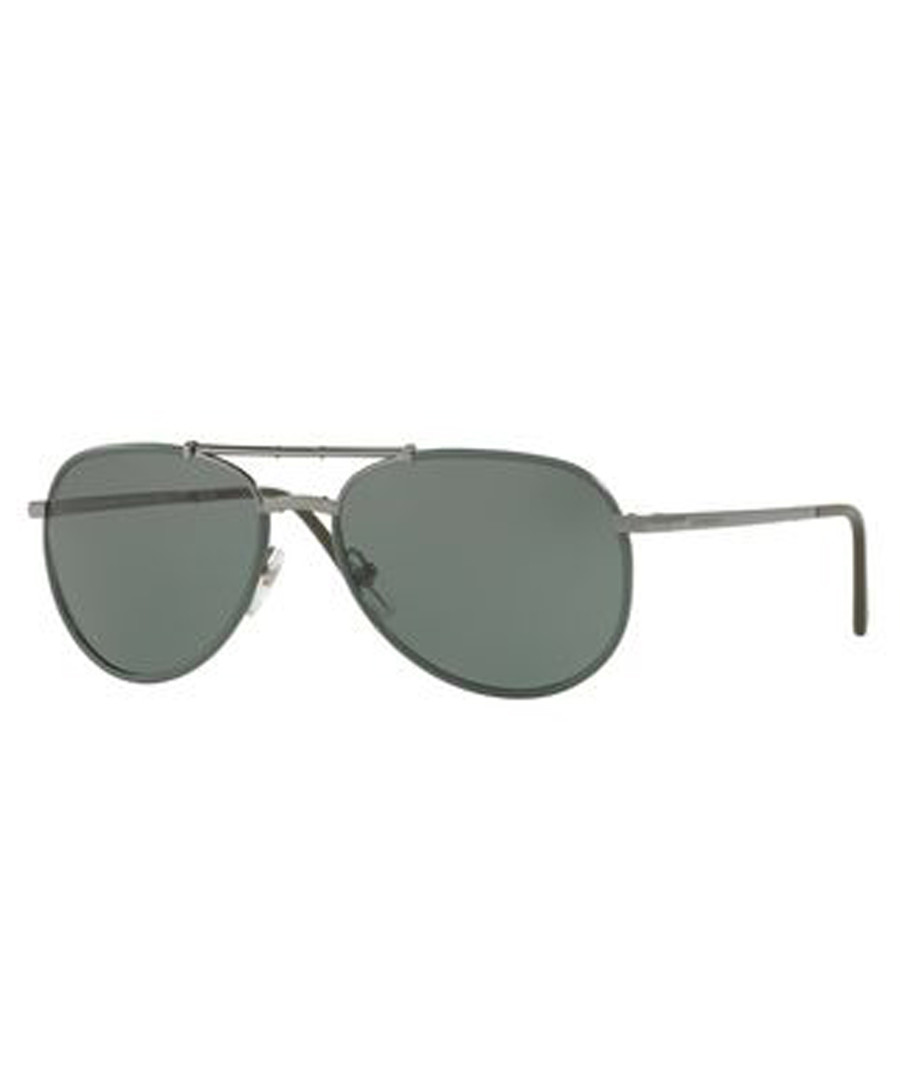 matte green slim pilot sunglasses Sale - burberry