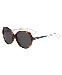 Havana rounded sunglasses