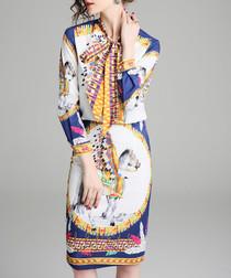 2pc Multi-colour horse print outfit set