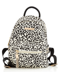 Snow leopard print backpack