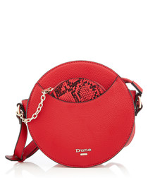 Red snake effect crossbody