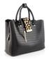 Black moc-croc & leopard grab bag Sale - dune Sale