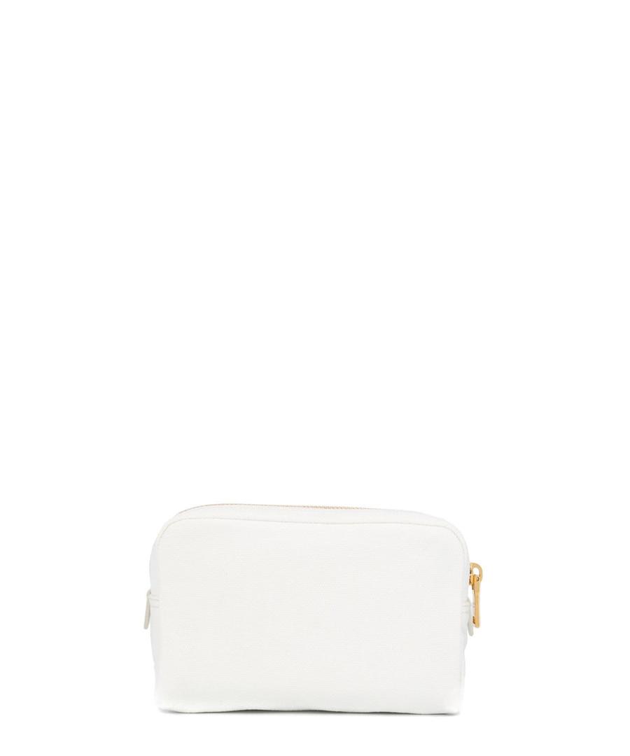 White cotton logo make-up bag Sale - prada