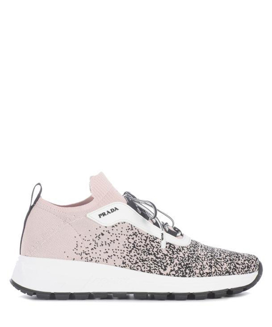 Blush speckled tech knit sneakers Sale - prada