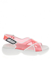 Cloudbust pink PVC open-toe sandals