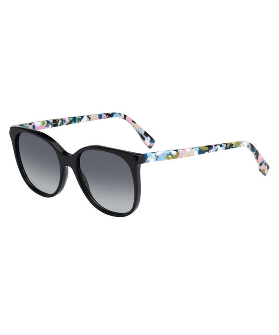 black & multi-havana sunglasses Sale - fendi