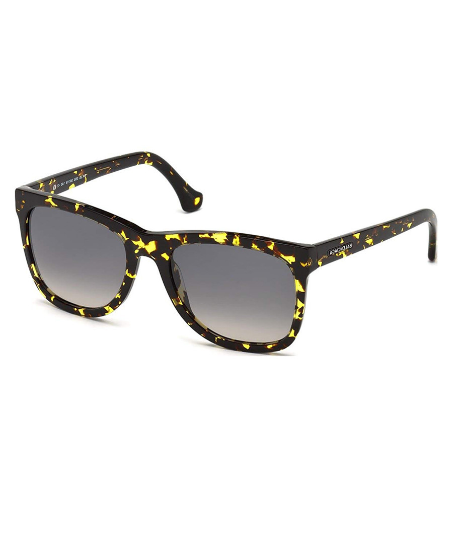 yellow havana D-frame sunglasses Sale - balenciaga