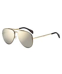 gold-tone pilot sunglasses