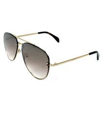 gold-tone & black pilot sunglasses