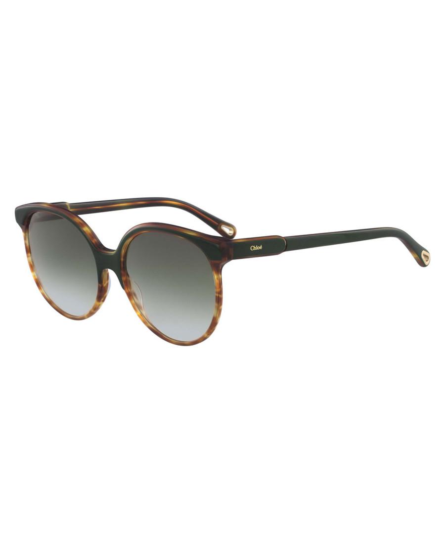 tortoiseshell rounded D-frame sunglasses Sale - chloe