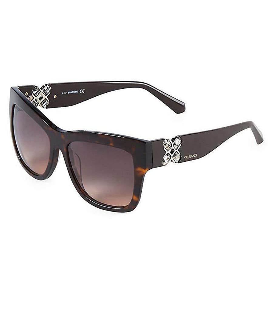 dark havana thick D-frame sunglasses Sale - swarovski