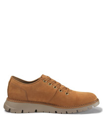 Drake brown suede lace-up shoes