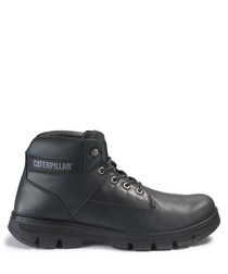 Situate black leather ankle boots