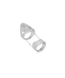 Double Rhombus sterling silver ring