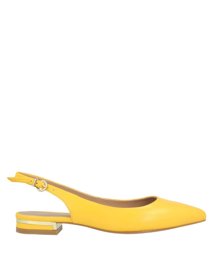 Yellow leather slingback flats Sale - roberto botella