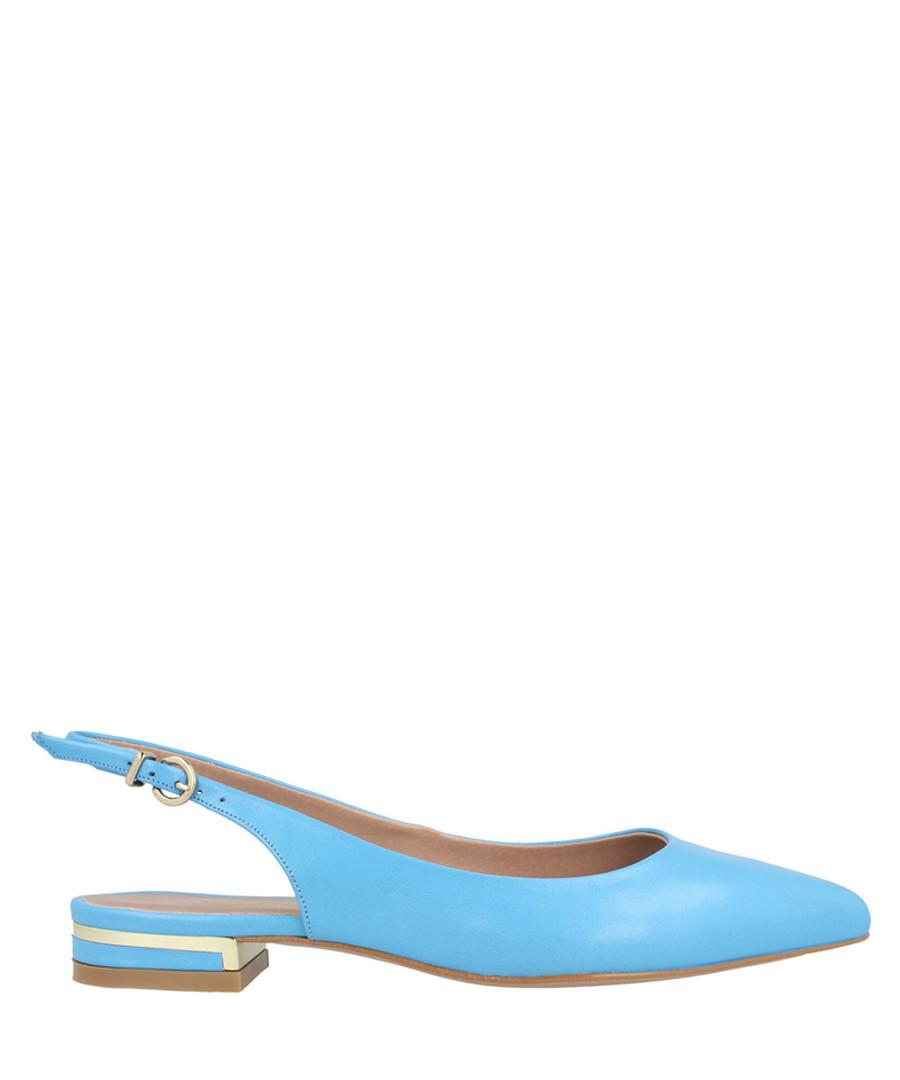 Sky blue leather slingback flats Sale - roberto botella