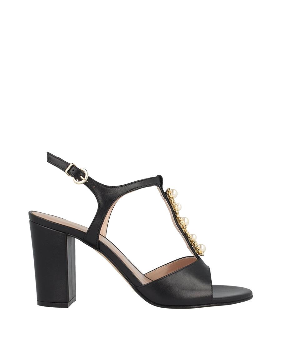Black block heel sandals Sale - roberto botella