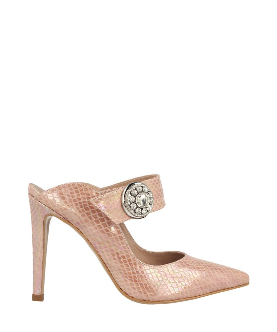 Rose scale strap mules Sale - roberto botella