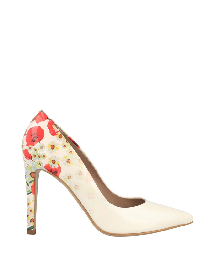 White floral court heels Sale - roberto botella