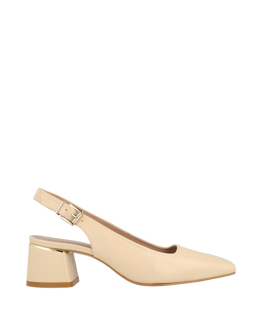 beige leather mid slingbacks Sale - Roberto Botella