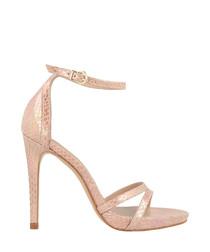 Pale pink snake-effect stilettos