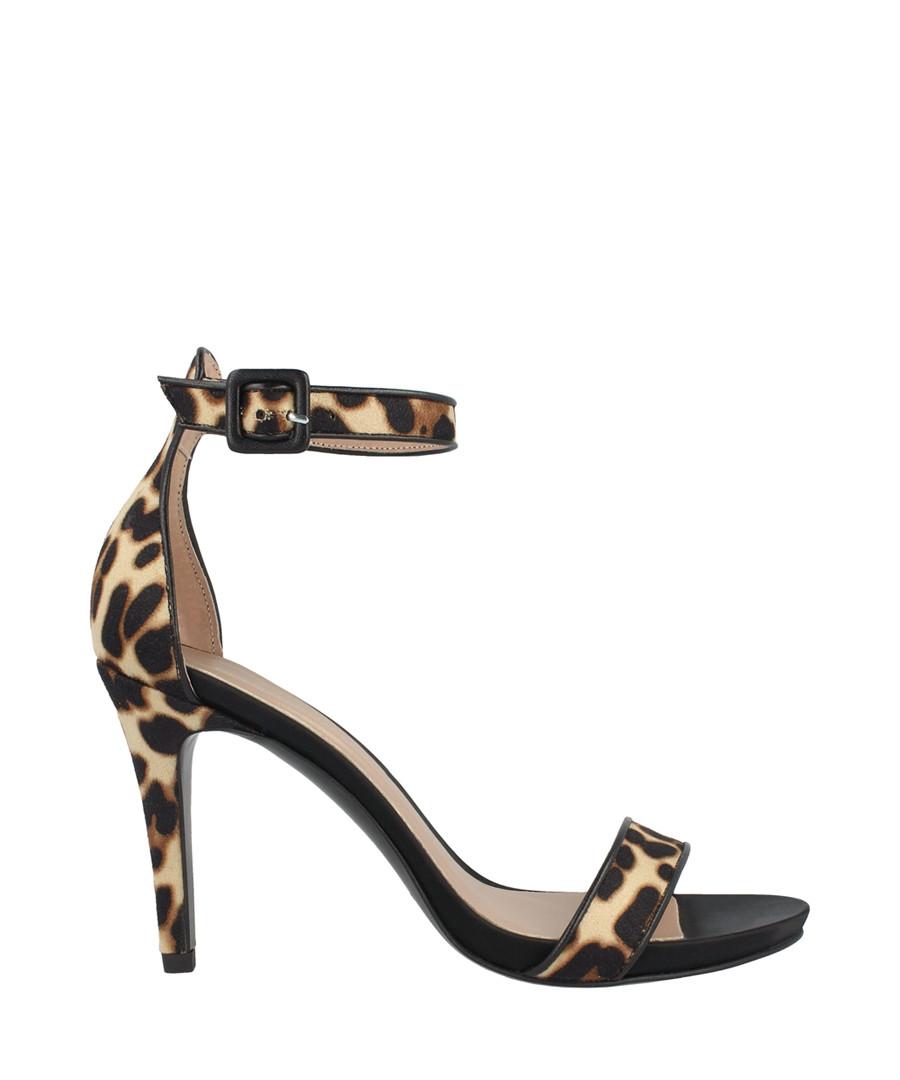 leopard print ankle strap mid heels Sale - roberto botella