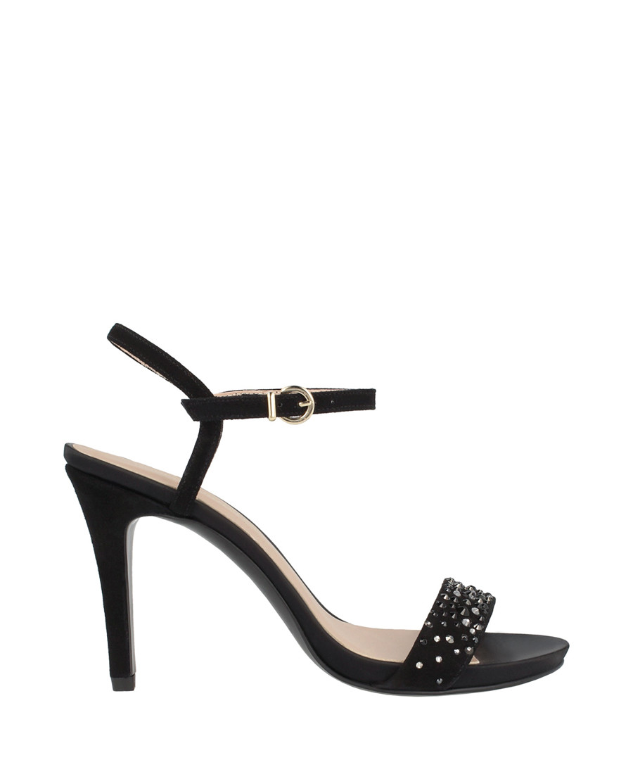 black leather sandal heels Sale - roberto botella