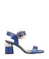 Navy leather block heel sandals Sale - roberto botella Sale