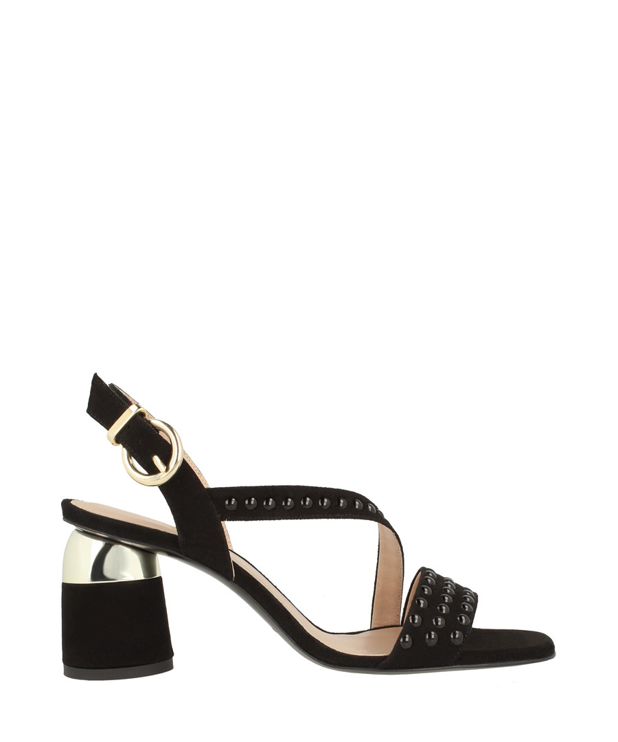 Black leather crossover sandals Sale - roberto botella