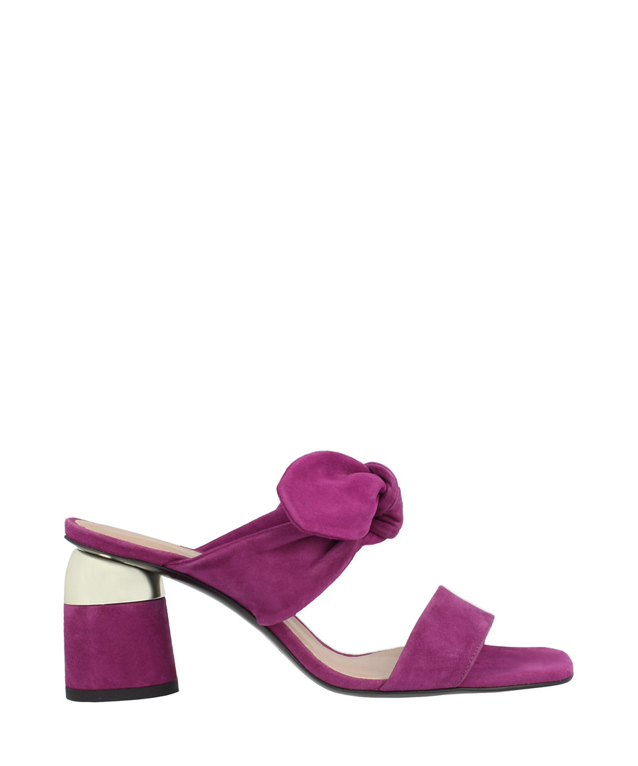 Plum leather tie mules Sale - roberto botella