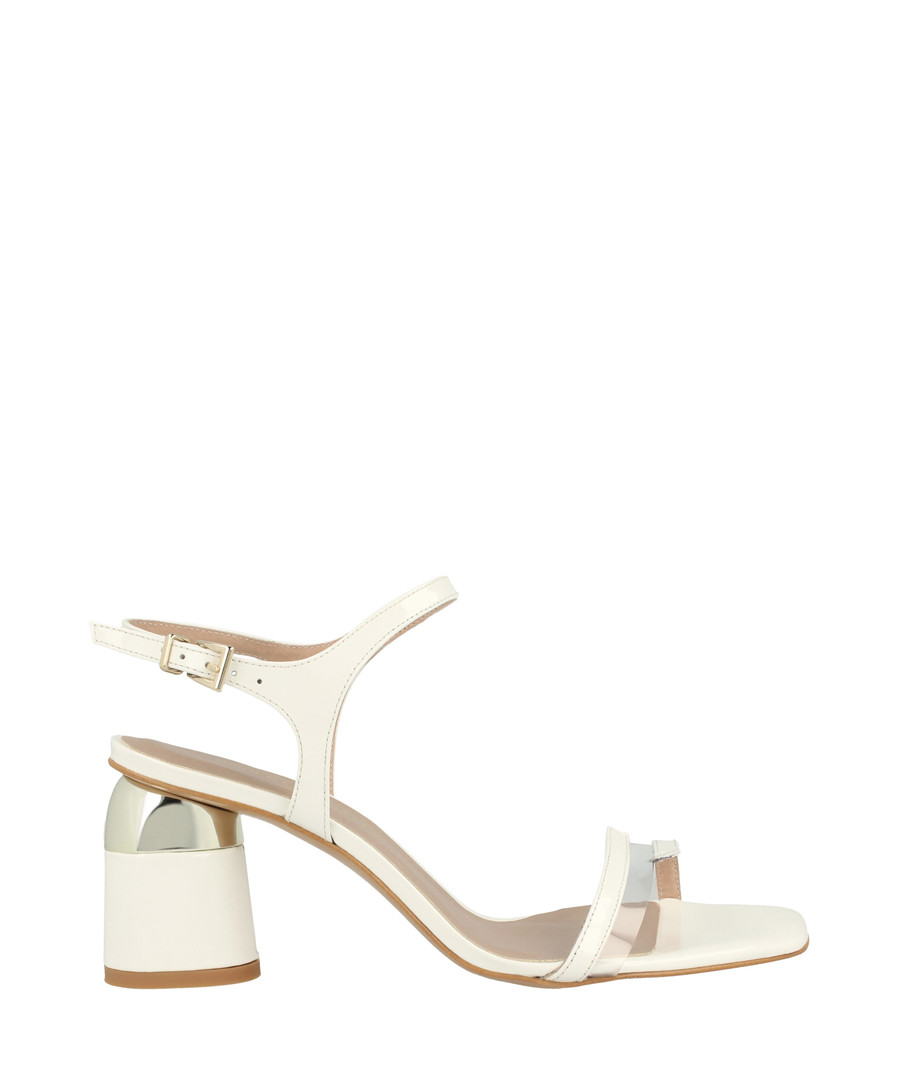 White block heel sandals Sale - roberto botella