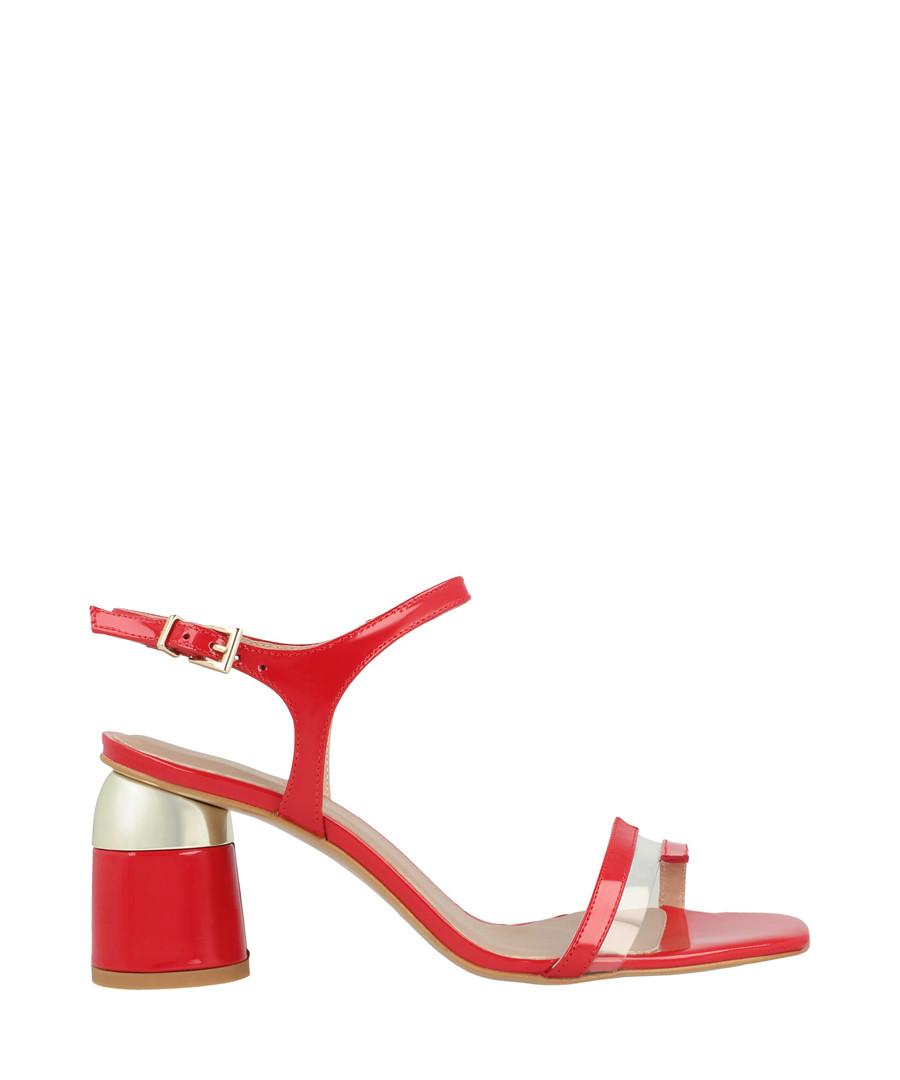 Red buckle block heel sandals Sale - roberto botella