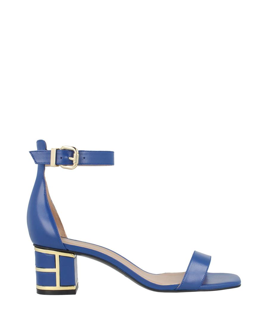 Blue leather mid heel sandals Sale - roberto botella