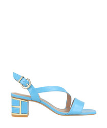 Sky leather crossover sandals