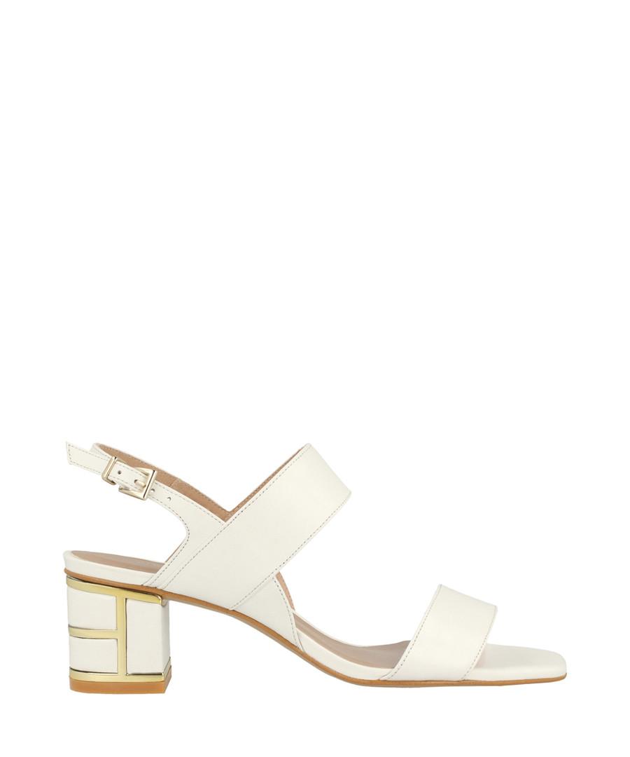 White leather crossover sandals Sale - roberto botella