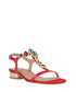red leather T-bar low sandals Sale - roberto botella Sale