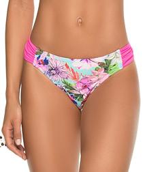 Pink floral bikini briefs