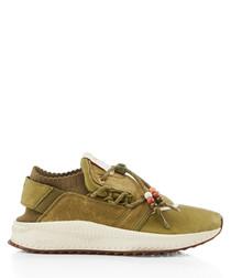 Tsugi Shinsei Footpatrol khaki sneakers