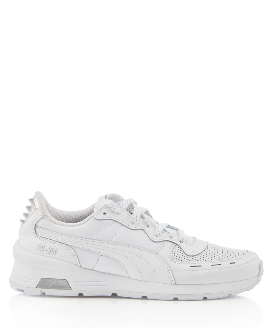 RS-350 Optic white leather trim sneakers Sale - puma