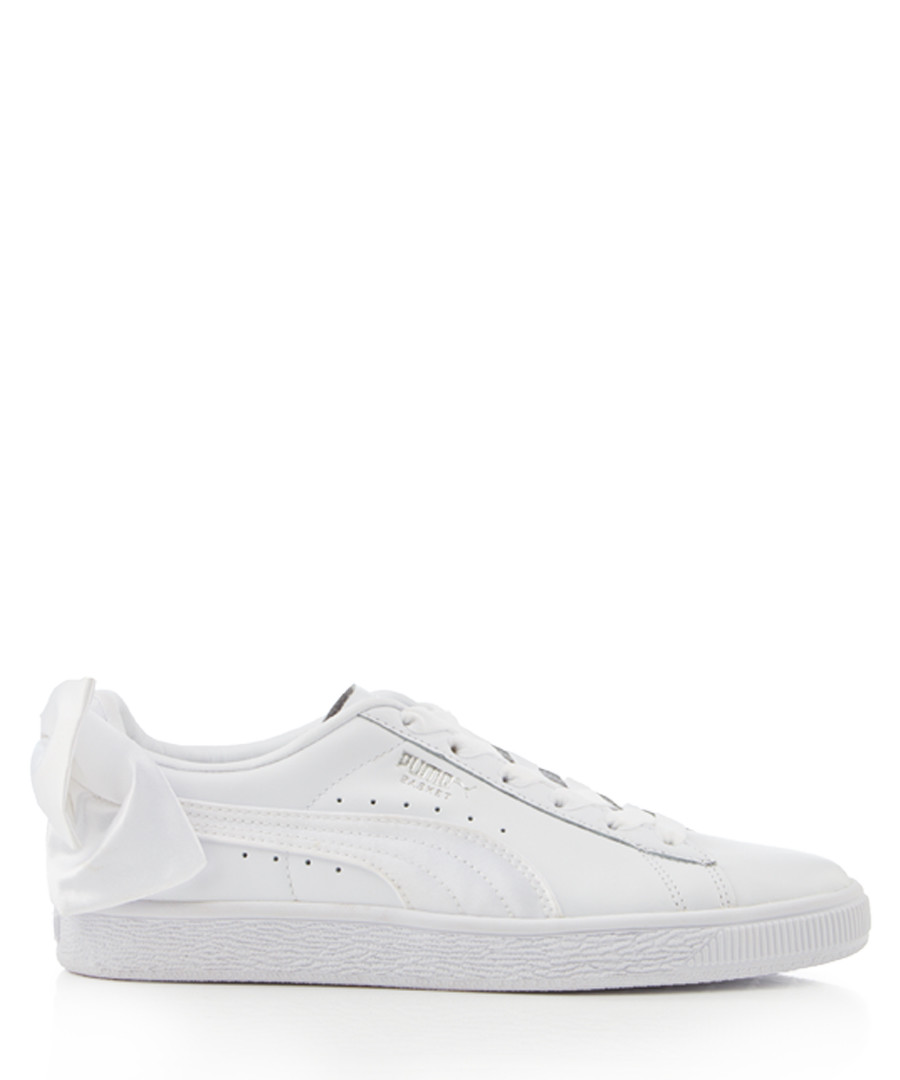 BASKET BOW white suede sneakers Sale - puma