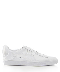BASKET BOW white suede sneakers