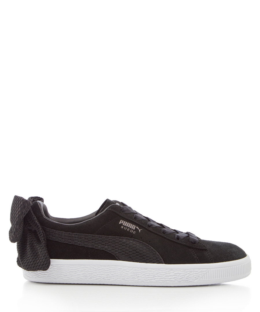 Uprising black bow suede sneakers Sale - puma