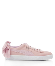 SUEDE BOW UPRISING rose suede sneakers