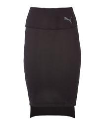 x SG black cotton stretch skirt