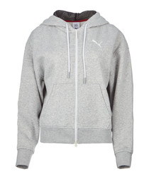 x SG FZ grey cotton stretch hoodie